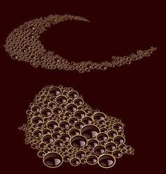 Foam coffee texture vector