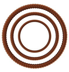 Brown rope in three sizes2 vector