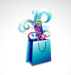 Colorful floral bag vector