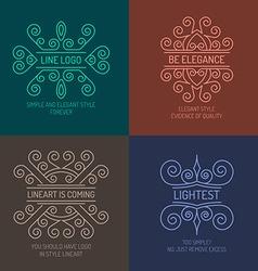 Elegant lineart logos vector