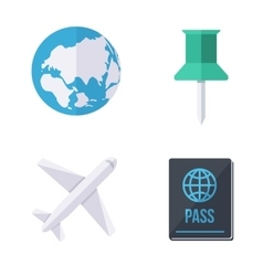 World wide traveling icons vector
