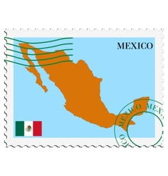 Mail to-from mexico vector