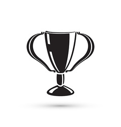Trophy cup silhouette vector