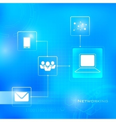 Networking technology background vector