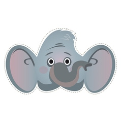 Mask elephant vector