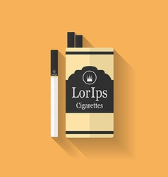 Icon of cigarette pack flat style vector