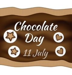 Chocolate day vector
