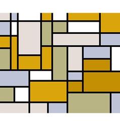 Mondrian goes retro print vector
