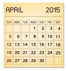 Calendar 2015 04 april vector