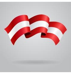 Austrian waving flag vector