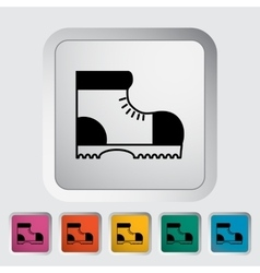 Hiking shoes vector
