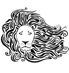 Lion black vector
