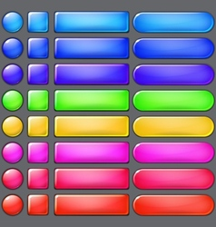 Colored web buttons vector