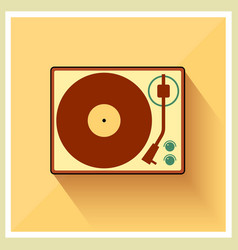 Retro turntable vinyl record player vector