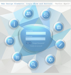 Web design elemets vector