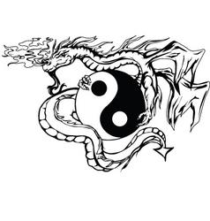 Yinyang dragon vector