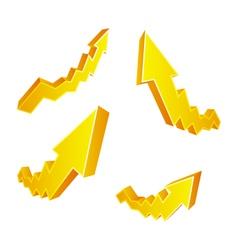 Golden arrows vector
