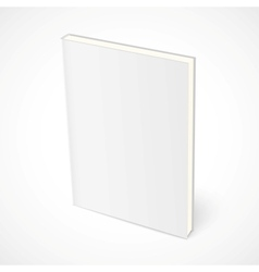 Empty standing book with white cover vector
