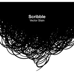 Scribble black background vector