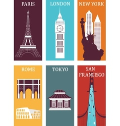 Famous cities vector