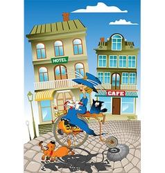 Queen cyclist cartoon vector