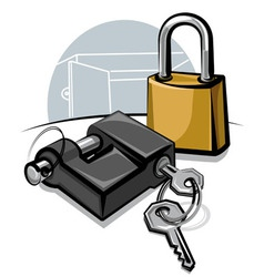 Padlocks with keys vector