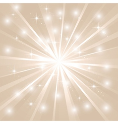 Bright sunburst with sparkles vector