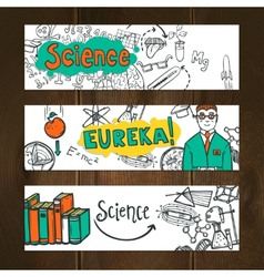 Science banner set vector