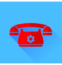 Red phone vector