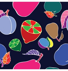 Negative fruit print vector