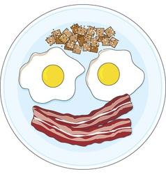 Bacon and eggs vector