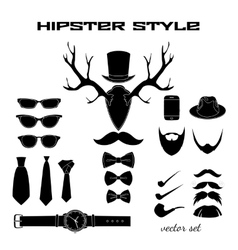 Hipster accessory pictograms collection vector