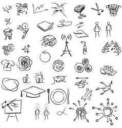 Freehand doodle elements vector