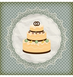 Retro wedding invitation vector