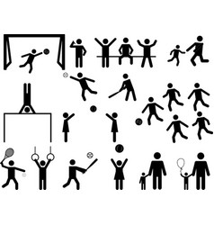 Pictogram people fun and sport activity vector