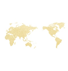 World map paper of vector