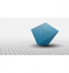 3d maze background vector