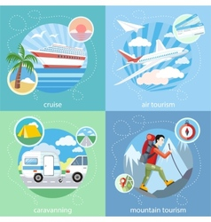 Mountain cruise air tourism vector