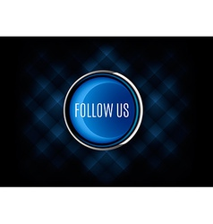 Follow us button vector