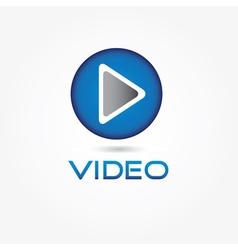 Play video button design template vector