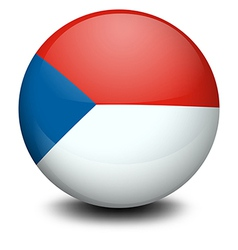A ball with the flag of czech republic vector