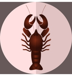 One delicious giant lobster for lunch eps10 vector