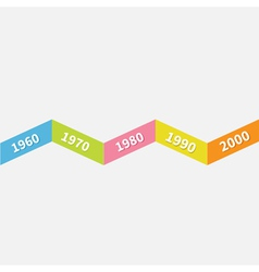 Timeline infographic zigzag ribbon line template vector
