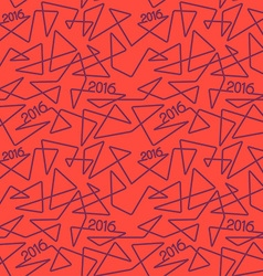 2016 year linear pattern vector