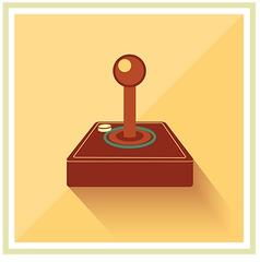 Computer video game joystick controller vector