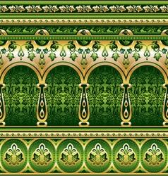 Silk green ornament vector
