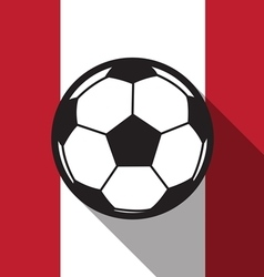 Football icon with canada flag vector