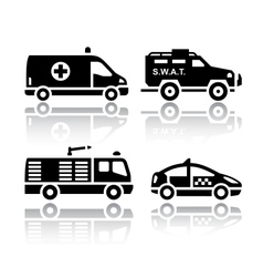 Set of transport icons - rescue vector