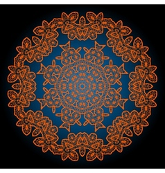 Henna coloured outlined mandala background vector