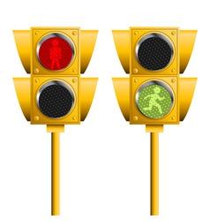 Pedestrian lights vector